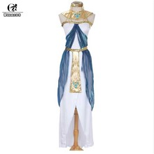 ROLECOS 2017 Halloween Clothes Women Sleeveless Arab Queen Of Egypt Cleopatra Cosplay Costume Ladies Sexy Fancy Dress Clothes