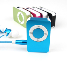 New Portable Metal MP3 Player with 5 Candy Colors Sport Music Player Support 32GB Micro TF/SD Card(China)