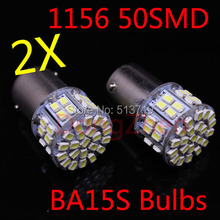 2X 12V Car S25 BA15S 1156 P21W 50 LED Front Side Turn Signal Light Bulb Parking Auto R5W Tail Rear Reverse Light Fog Lamp Xenon