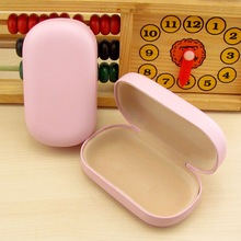 LIUSVENTINA cute cute pink companion box leather box contact lens case lenses container