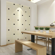 3D DIY Modern Design Brick Wallpaper Waterproof PE Wall Covering Wall Paper Living Room Dinning Room Store Background(China)