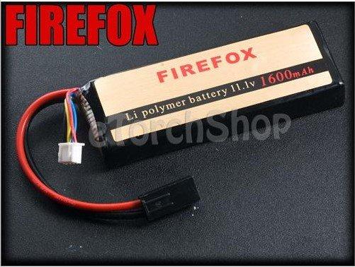 HK register free shipping 100% Orginal FireFox 11.1V 1600mAh 15C Li Po AEG Airsoft Battery<br>