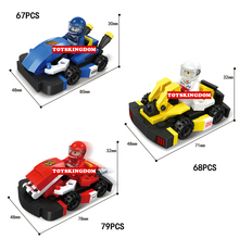 Funny mini racing speed championships building block karting sport cars bricks toys for children gifts(China)