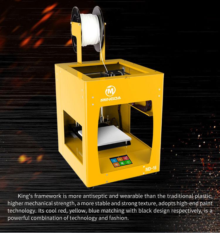 Mingda 3D Modeling Printer Metal Frame High Precision 3D Printer Machine Aluminum Plate 3D Printer Manufacturers MD-16-6