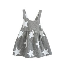 Summer Baby Kids Girls Star Sleeveless Clothes Beach Sundress Party Dresses
