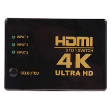 High Quality 4K*2K 3 input to 1 output HDMI switcher HDMI Hub Splitter TV Switcher Ultra HD for HDTV PC for  PS3/Xbox360