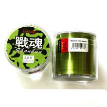 500m high quality strong pull wear transparent nylon fishing line fishing Mainline solid green sea rod line(China)