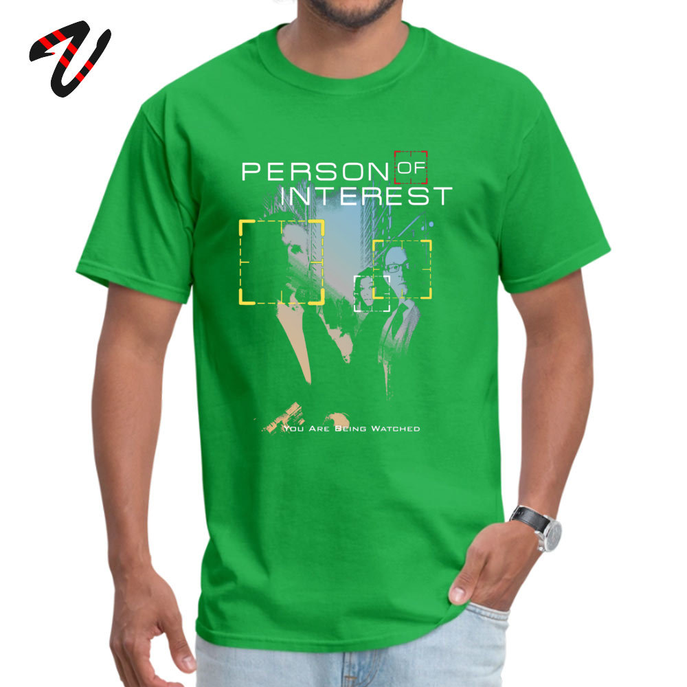 You Are Being Watched Summer Top T-shirts for Adult 100% Cotton Summer Fall Tops & Tees Sweatshirts Short Sleeve Funny O-Neck You Are Being Watched 21446 green