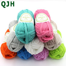 500/lot Soft Thick Yarn For Knitting Carpet Hot Sale Handbag Big 8-10mm Crochet Cloth Fancy Yarn lanas para tejer 37colors