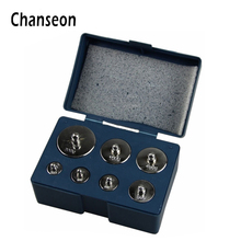 Chanseon 7pcs/set Calibration Sets 500g Grams Precision Calibration Jewelry Scale Weights Correction Set 200g 100g 50g 20g 10g