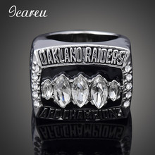 Unique Fashion Full Rhinestones For Man Fans Rings 2002 Auckland Raiders Rugby NFL Super Bowl Championship Rings