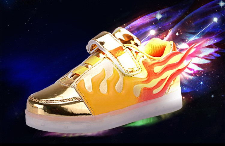 2017 Kids Led Lights Wings Shoes Fashion Boys Girls shoes Usb Charger Light Children Shoes colorful flashing lights sneakers<br><br>Aliexpress