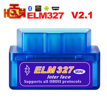 Super Mini ELM327 Bluetooth V2.1 OBD2 Car Diagnostic Tool ELM 327 code reader For Android/Symbian For OBDII Protocols scanner(China)