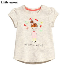 Buy Little maven children brand clothes summer baby girls clothes short sleeve lovely little girl print Cotton brand t shirt 50817 for $7.70 in AliExpress store
