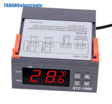 DC AC 12V/24V Two Relay Output Digital Temperature Controller STC-1000 Thermostat -50~99 Degree with Sensor digital stc-1000