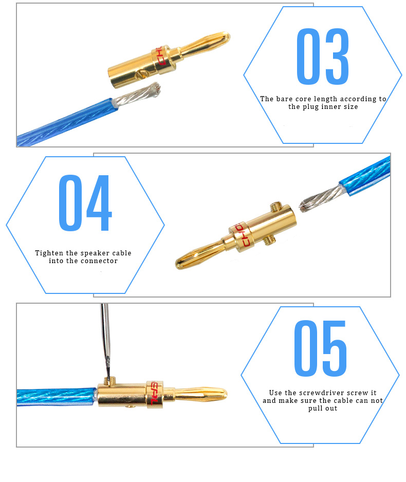 CHOSEAL DIY HIFI Audio Cable  Oxygen Free Pure Copper Speaker Cable for Car Audio Home Theater Speaker Wire Soft Touch Cable (8)