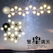 office ceiling lighting lamps led Black White LED Dome Lights Plum Blossom Lamp Sitting Room Dining-room Creative lighting(China)