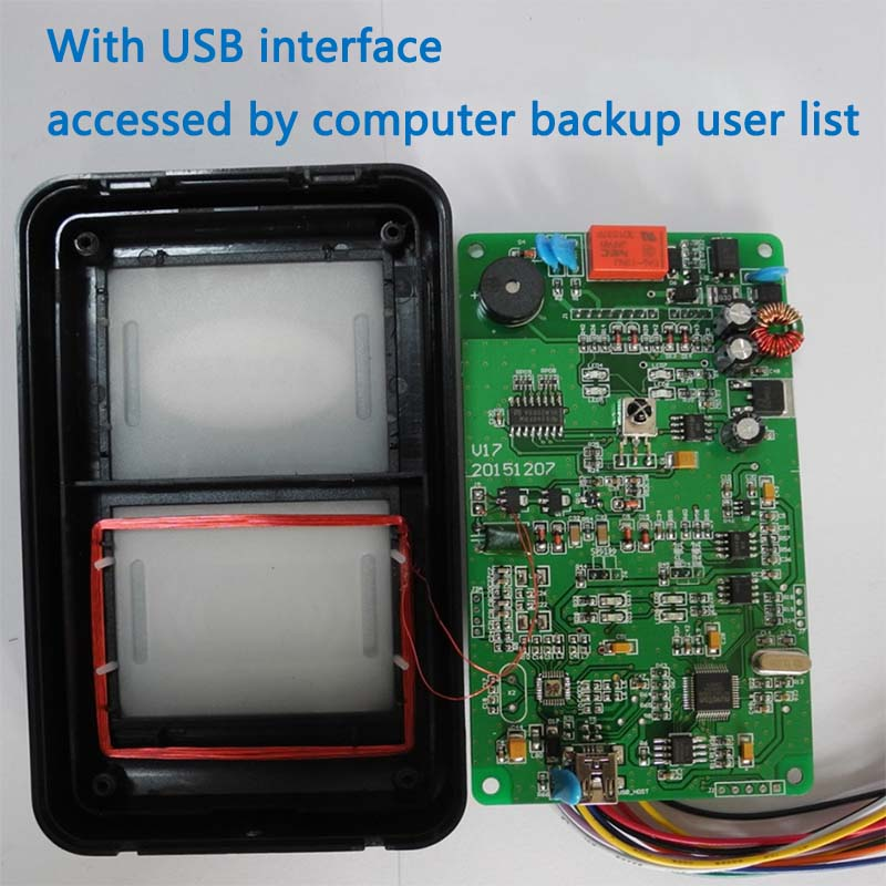ID1000 User Access Control External Reader Waterproof Infrared Remote Control Door FLASH Memory<br><br>Aliexpress