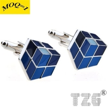 Magic Cube Cufflink Cuff Link 1 Pair Free Shipping Promotion(China)