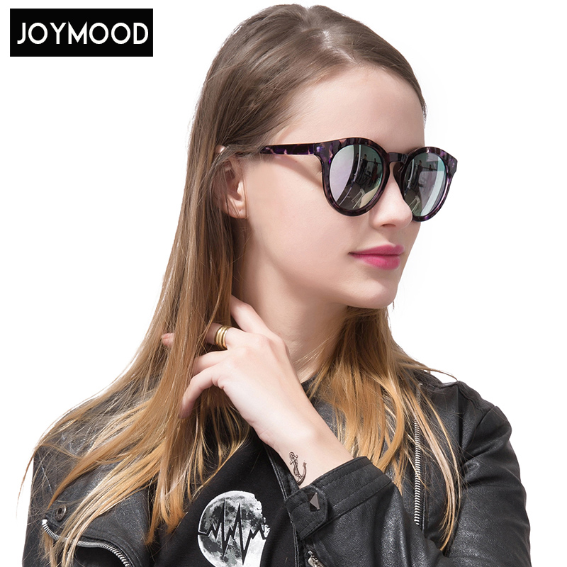 JOYMOOD 2017 New Round Colored Sunglasses In Retro Round Face Glasses Women Sunglass  Round Alloy Polycarbonate<br><br>Aliexpress