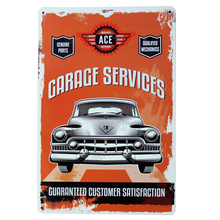 GARAGE SERVICE Metal Tin Sign Vintage Plate Car Decor Plate Maintatance gear repair for shop boutique display LJ2-7 20x30cm B1