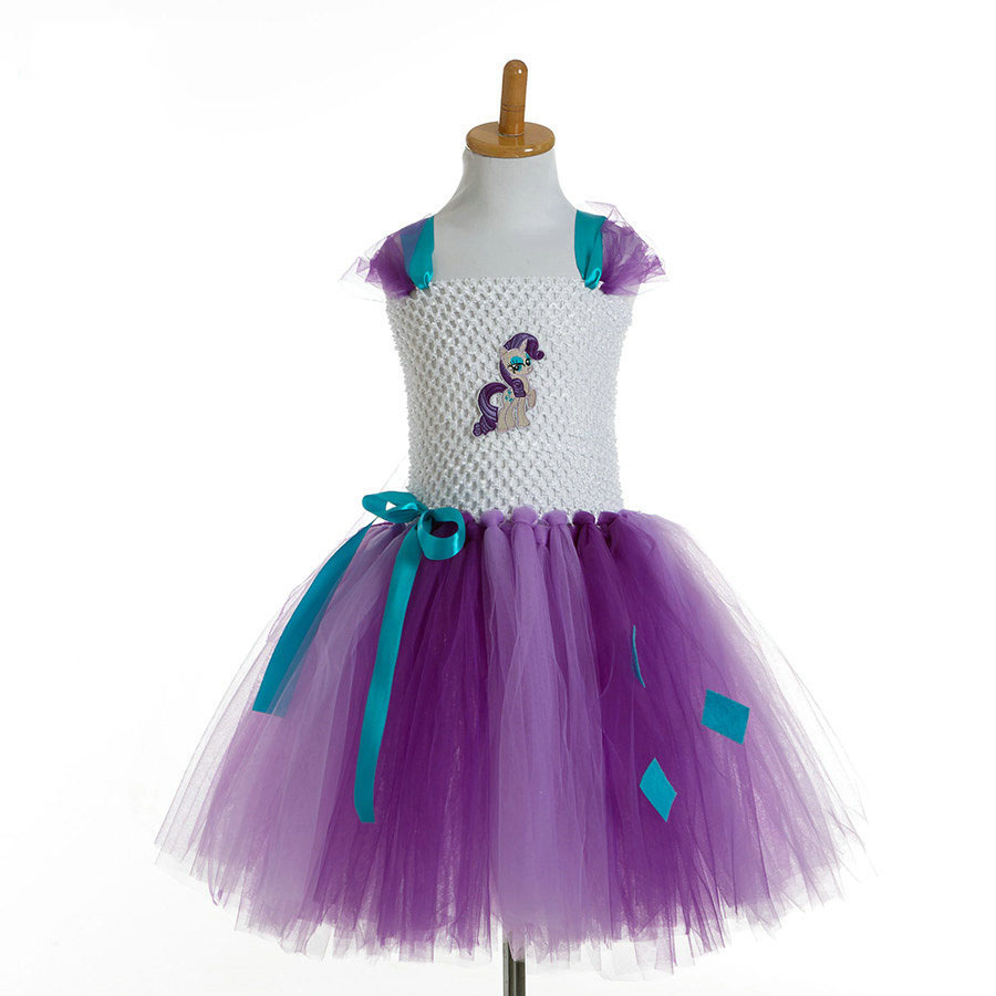 fashion crochet bandage white and purple tutu birthday dresses for girls<br><br>Aliexpress