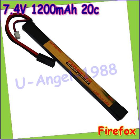 wholesale 1pcs 100% Orginal FireFox 7.4V 1200mAh 20C Li Po AEG Battery 170mm x 17mm F2R12M Drop shipping<br><br>Aliexpress