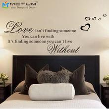 Love Isn't Finding Wall Art Wall Sticker Quotes Vinyl Inspirational Quotes Wall Decals Bedroom Decor Wall Stickers(China)
