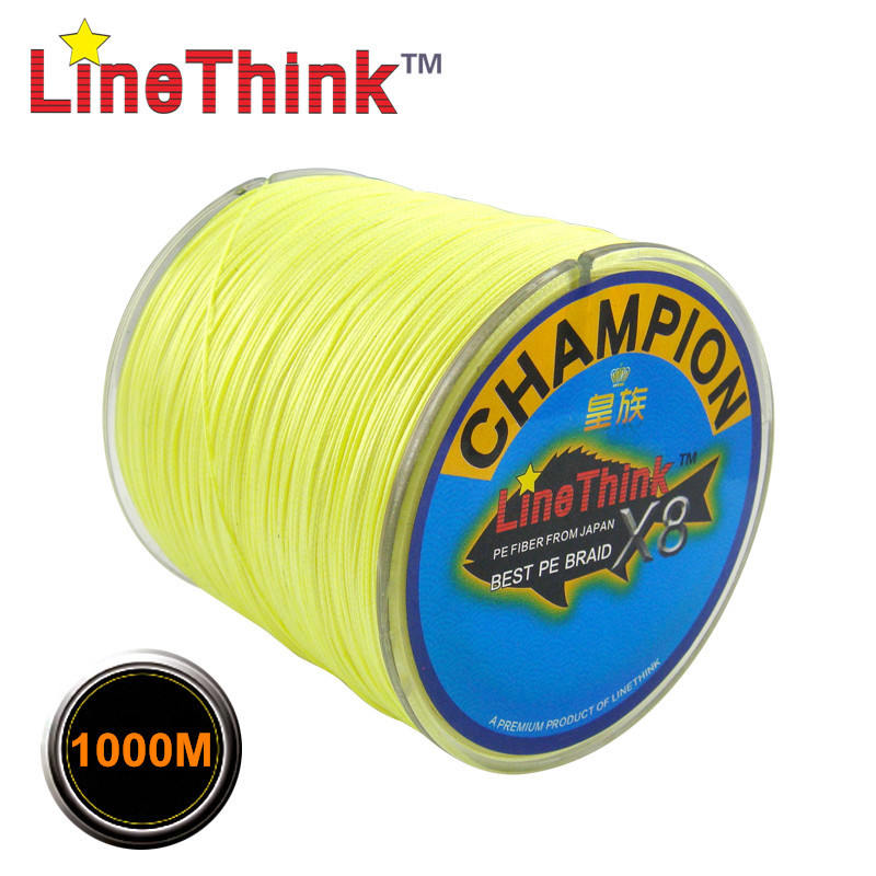1000M GHAMPION LineThink Brand 8Strands/8Weave Best Quality Multifilament PE Braided Fishing Line Fishing Braid  Free Shipping<br>