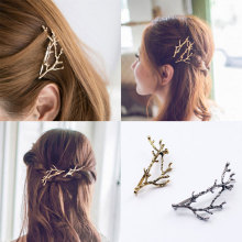 M MISM Elegant Metal Tree Branch Hairpins Hair Clips for Women barrettes Female Headwear Alloy Hair Accessories Hair Clip New(China)