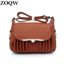 2017 New Elegant Hot Fashion Mid-Aged Women's Leather Bag Casual Ladies Shoulder Bags Shopping Practical Crossbody Bag GQ1541(China)