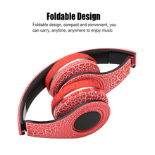 Original Wireless Stereo Bluetooth Headset HiFi Headphones Foldable LED Luminous Earphone with Mic Micro SD/TF Music FM Radio