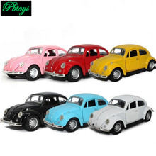 1PCS Free Shipping Vintage Classic Police Model Car Alloy Baby Educational Scale Models Cheap High Quality Beetle Car Toys F1022