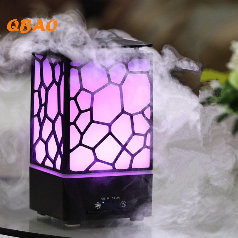 Cube Design Humidifier Aroma Diffuse Lamp 24V Electrics 1J/2H/3H Timer Function Cut off Less Water Essential Oil Diffuser Home<br>