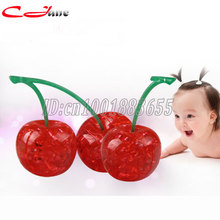 Three-dimensional jigsaw puzzle crystal cherry 3Ddiy hand assembled puzzle birthday gift stereo fruit puzzle