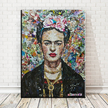 xdr495 Frida Kahlo printing Wall Art Canvas Impressionist oil paintings poster and print canvas for living room frida kahlo(China)