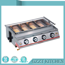 4 Burners Gas Grill BBQ Grill Outdoor Barbecue Camping Equipment Picnic Adjustable Height(China)