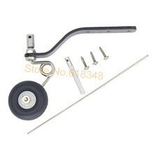 "Buy 10 Sets 50cc Great Plane Landing Gear Carbon Tail Wheel Assembly 1.5"" Rubber Tire Kit RC Airplane Replacement Parts for $72.57 in AliExpress store"