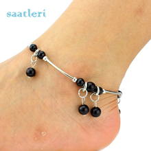 Womens Fashion Adjustable Ball Beach Toe Barefoot Chain Link Foot Anklet Chain Jewelry Girl's Cool Chain Beautiful Accessories(China)