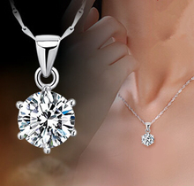 collares 2015 Women Silver Jewelry Necklaces & Pendants With Vintage Cameo CZ Crystal Necklaces For Women sa773
