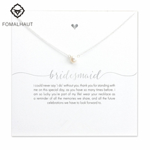 FOMALHAUT bridesmaid small imitation pearl 45cm Pendant Necklaces Clavicle Chains necklace Fashion Women Jewelry(China)