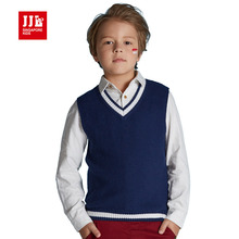 fashion boys sweater sleeveless kids vest winter boys pullover kids jumper brand pure color boys tops 2016(China)
