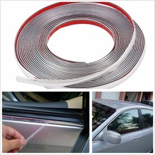 YAQUICKA 12mm Cool DIY Decal Chrome Strip Sticker Auto Self Adhesive Styling Moulding Trim Car Body Window Exterior Decoration(China)