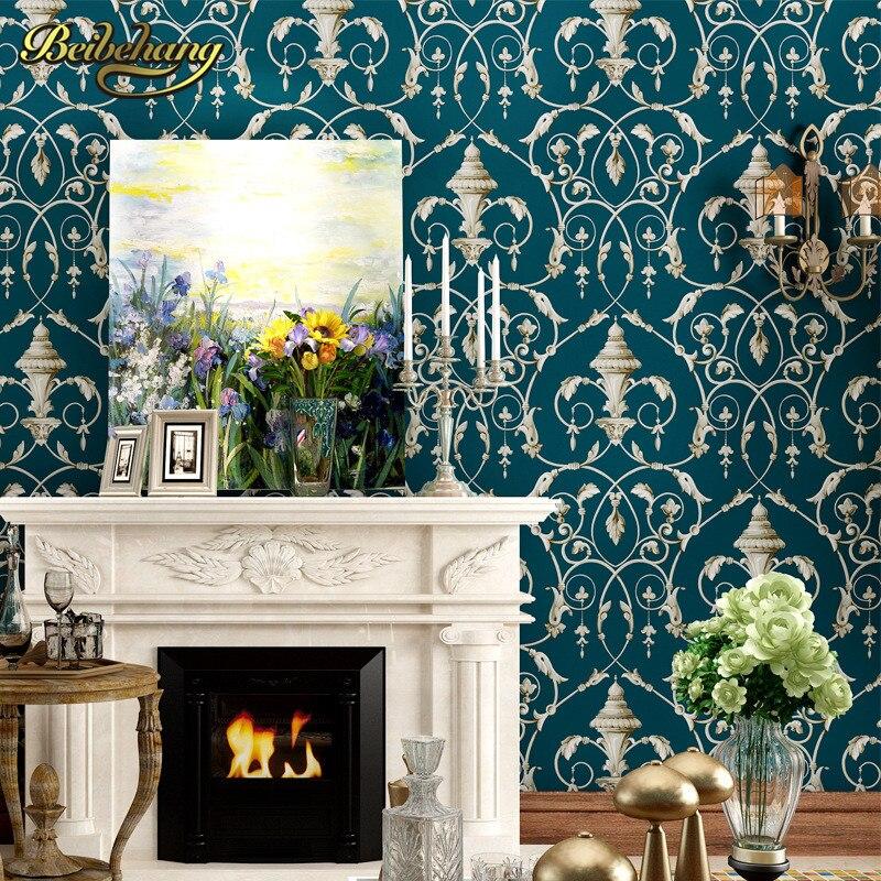 beibehang papel de parede 3d flooring American retro paper Living Room Bedroom Wallpaper For Walls wall paper roll home decor<br>