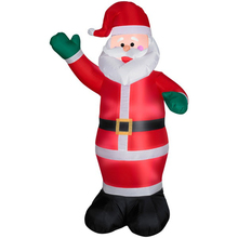 1.8 Meters Green&Red Hand Inflatable Santa Claus Christmas Toy Large Welcome  Photo Props Children Adult Inflating Toys TD0051