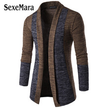 SexeMara Loose Long Mens Cardigans Sweaters with deer New Fashion Mens Sweater pull homme is men cardigan pullover