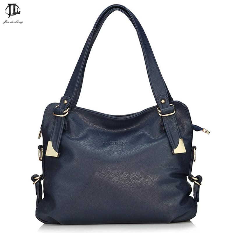 Designer Handbags High Quality 2018 Women Messenger Bags Lady Solid Tote Oil Waxing PU Leather Bolsas Mujer Bag<br>