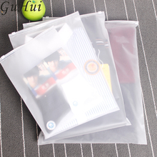 10Pcs/lot Matte Clear Travel Storage Bags Zipper Organizer Bag For Clothing Underwear Socks Shoes Packing Pouch Housekeeping(China)