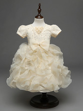 Baby girl dress beads bow little girl wedding dress ball gown dresses robe de mariage vestido bebe vestido infantil verao fiesta