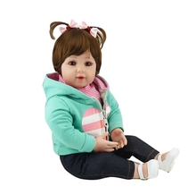 50cm silicone toddler Reborn Baby Doll Toys Lifelike Vinyl Princess Dolls Lovely Birthday Gift Collectable Doll Girls Brinquedos